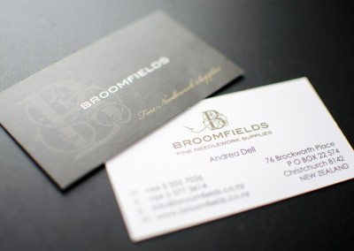 Broomfield's business card
