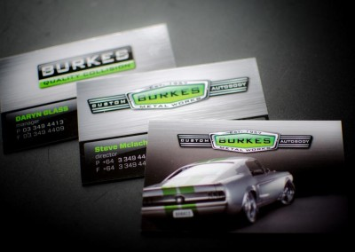 Burkes business cards