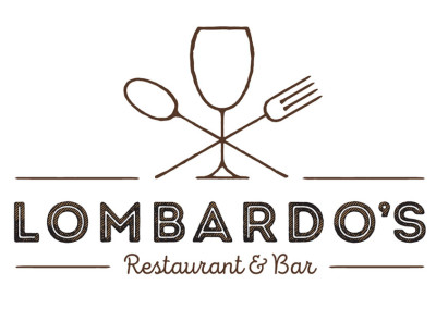 Lombardos Restaurant & Bar logo and motif