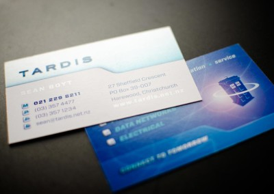Tardis business card