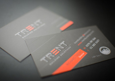 Trent Builders business card